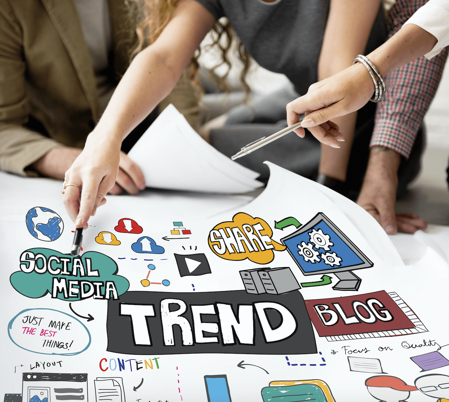 mapping out social media trends